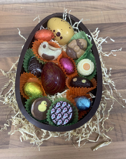 Dark Easter Half Egg Chocolate Selection - CHOOSE SIZE!