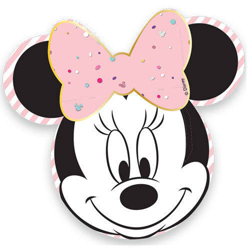 Minnie Mouse Shaped Gem Paper Plates