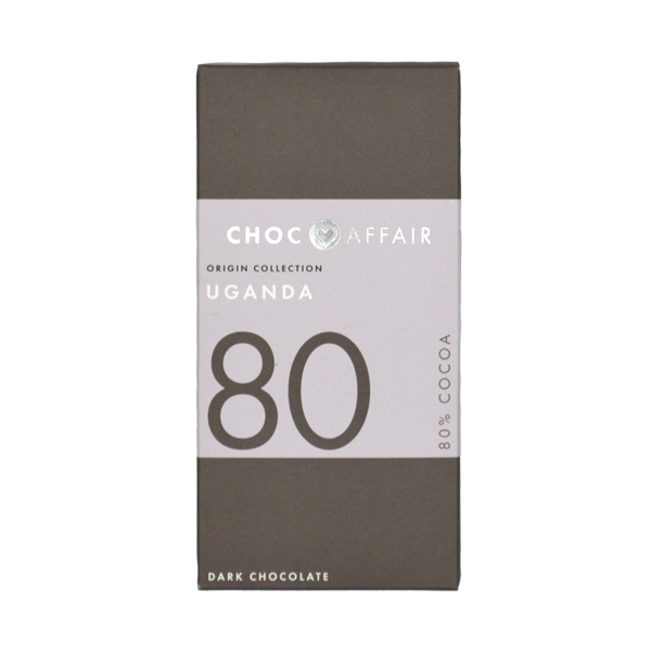 Choc Affair 80% Uganda Dark Chocolate Bar
