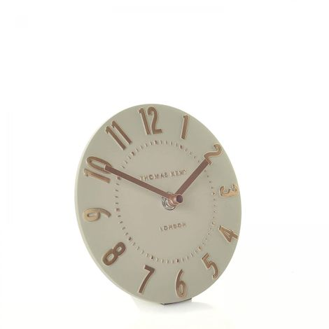 "Thomas Kent 6"" Mulberry Rose Gold Mantel Clock"