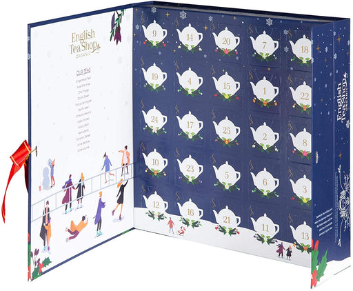 English Tea Shop Book Style Christmas Night Advent Calendar
