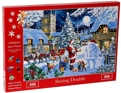HOP Seeing Double 2019 Christmas Collectors Edition No.14 500 Piece Jigsaw Puzzle