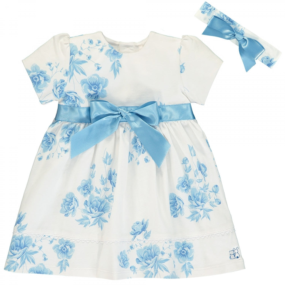 Emile et Rose Simone Navy Floral Baby Dress
