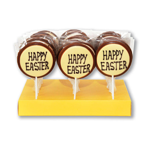 "Hand Decorated Chocolate Lollipops ""Happy Easter"""