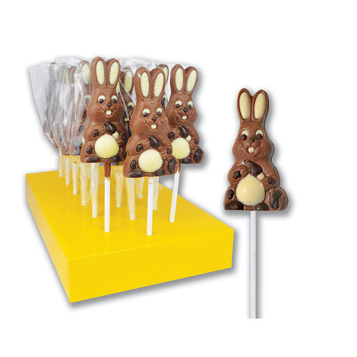 "Hand Decorated Chocolate Lollipops ""Easter Bunny with Carrot"""