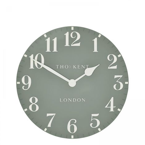 "Thomas Kent 12"" Arabic Seagrass Small Wall Clock"