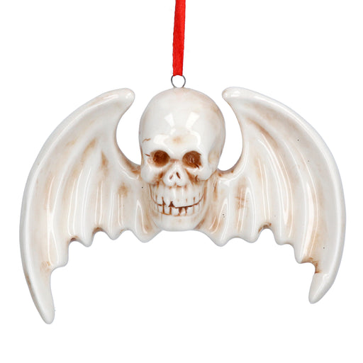 Halloween Ceramic Flying Skull Dec