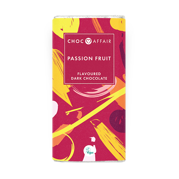 Choc Affair Passion Fruit Dark Chocolate Bar