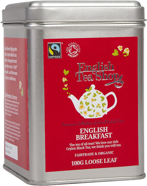 English Tea Shop Organic English Tea - 100g Loose Leaf Tea in a Tin