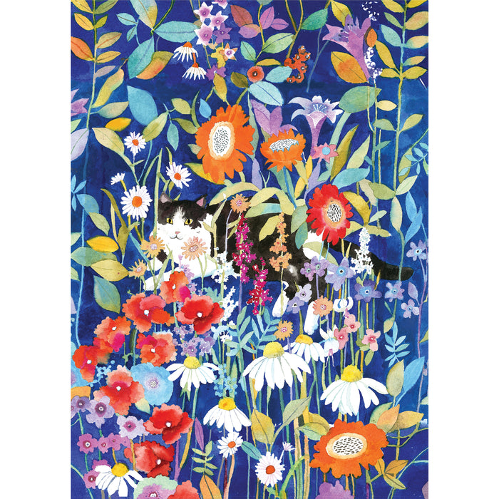 Peter Pauper Press Garden Cat 1000pc Jigsaw Puzzle