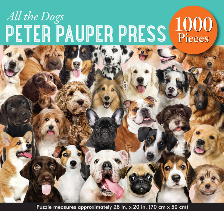 Peter Pauper Press All the Dogs 1000pc Jigsaw Puzzle