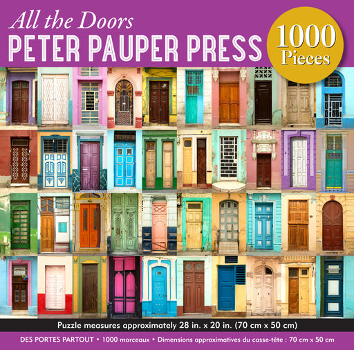 Peter Pauper Press All the Doors 1000pc Jigsaw Puzzle
