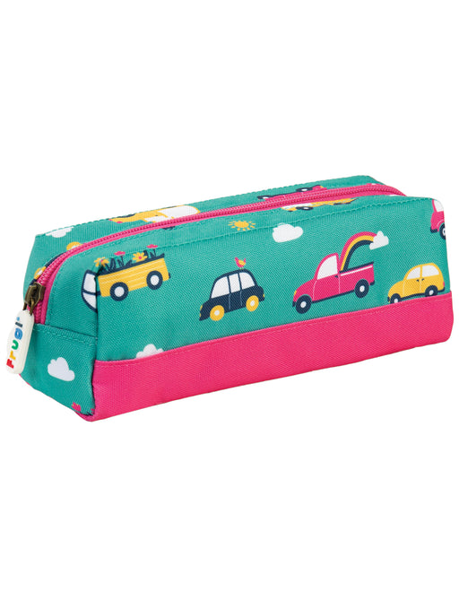 Frugi Crafty Pencil Case, Aqua Rainbow Roads