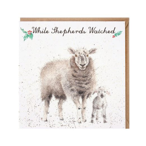 Wrendale While Shepherds Watched Christmas Card