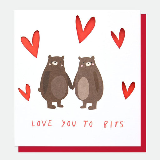 Caroline Gardner Love You To Bits Bears Valentine's Card