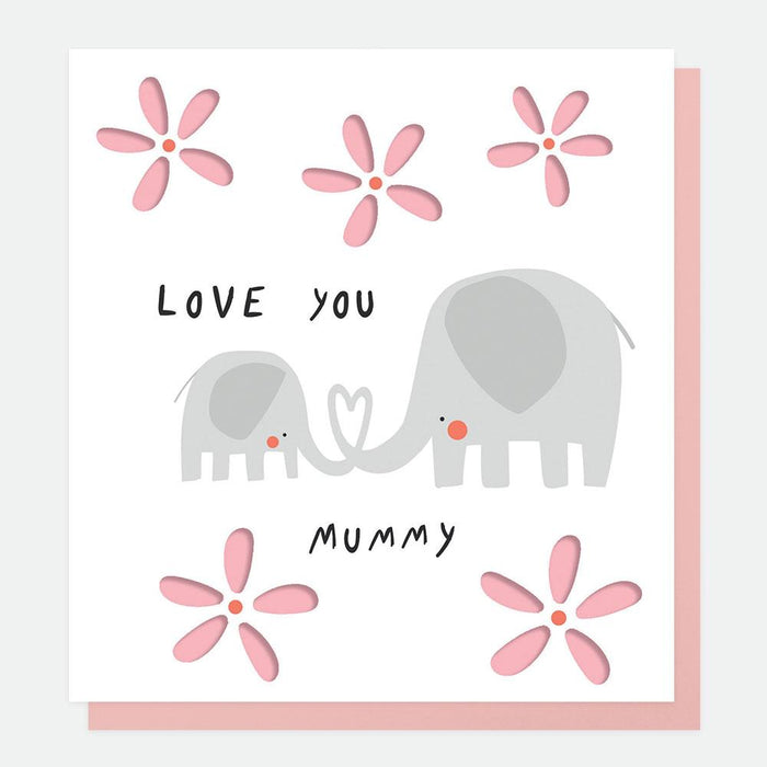Caroline Gardner Love You Mummy Elephants Mother's Day Card