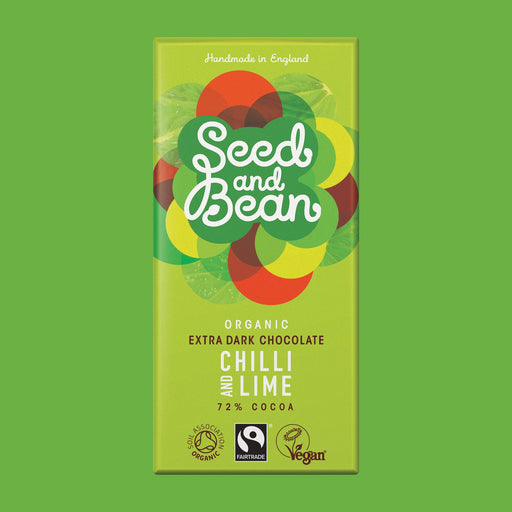 Seed & Bean Chilli & Lime Extra Dark Chocolate Bar