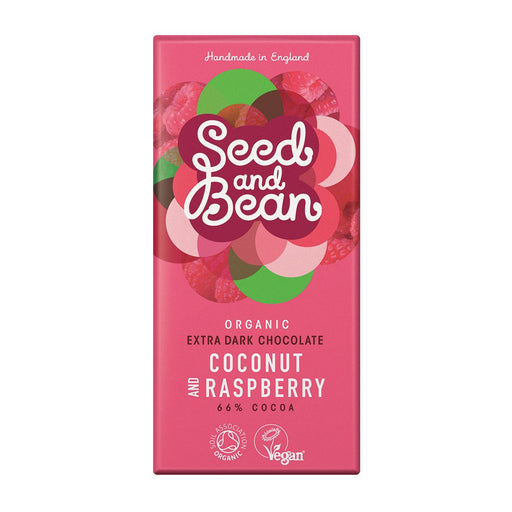 Seed & Bean Coconut & Raspberry Extra Dark Chocolate Bar