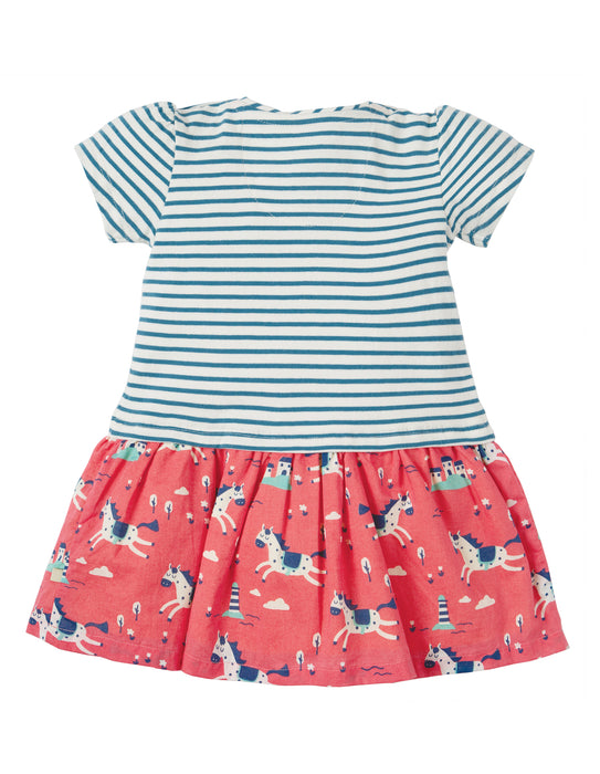 Frugi Little Laura Lyonesse Legend/Horse Dress