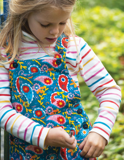Frugi Pixie Paisley Peggy Cord Playsuit