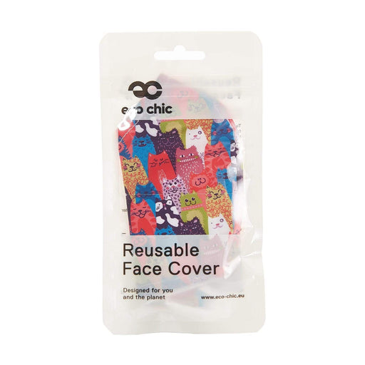 Eco Chic Reusable Face Cover Stacking Cats