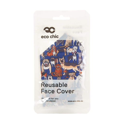Eco Chic Reusable Face Cover Teal Dogs
