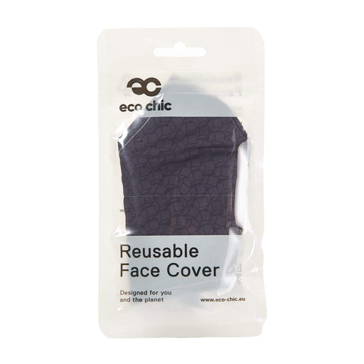 Eco Chic Reusable Face Cover Black Cubes