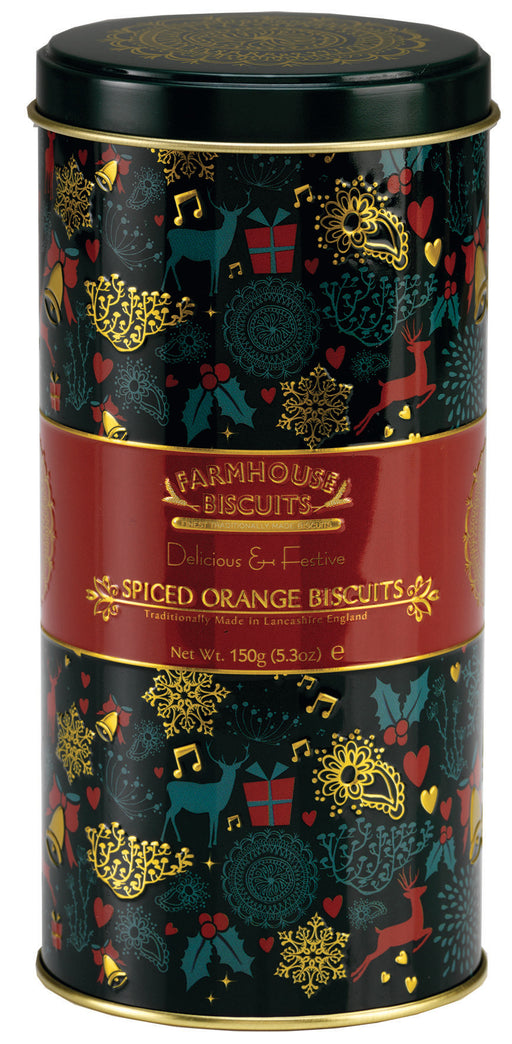 Christmas Icon Round Tin of Spiced Orange Biscuits