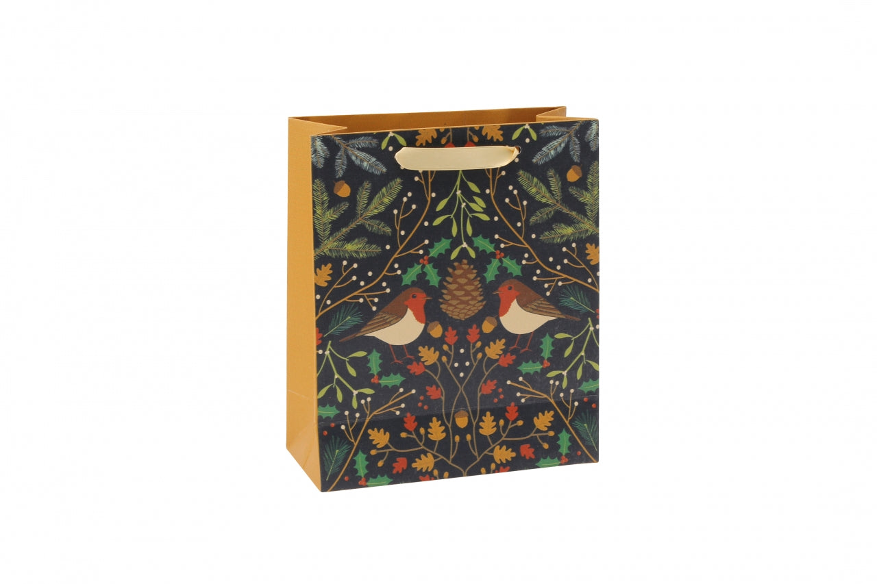 Seasons Greetings Medium Robin Gift Bag