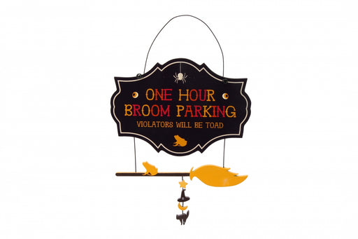 Haunted House One Hour Broom Parking Sign