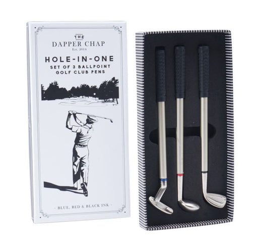 Dapper Chap Hole in One Set of 3 Golf Club Pens