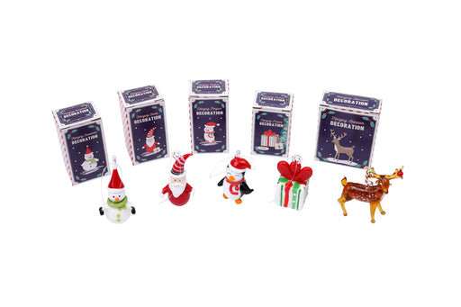 Glass Hanging Christmas Figurines