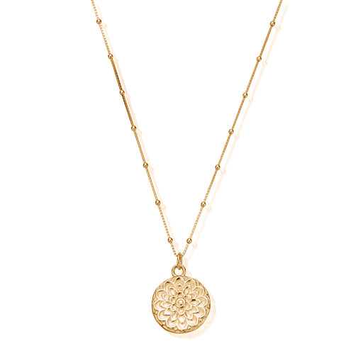 Chlobo Gold Bobble Chain Moon Flower Necklace