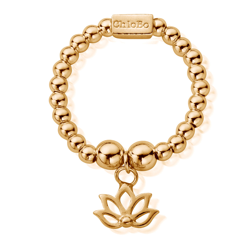Chlobo Gold Mini Lotus Ring