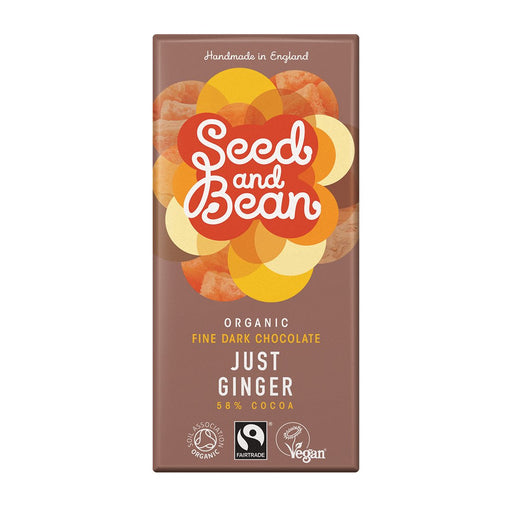 Seed & Bean Ginger Dark Chocolate Bar