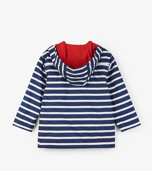 Hatley Navy Stripes Microfiber Rain Jacket