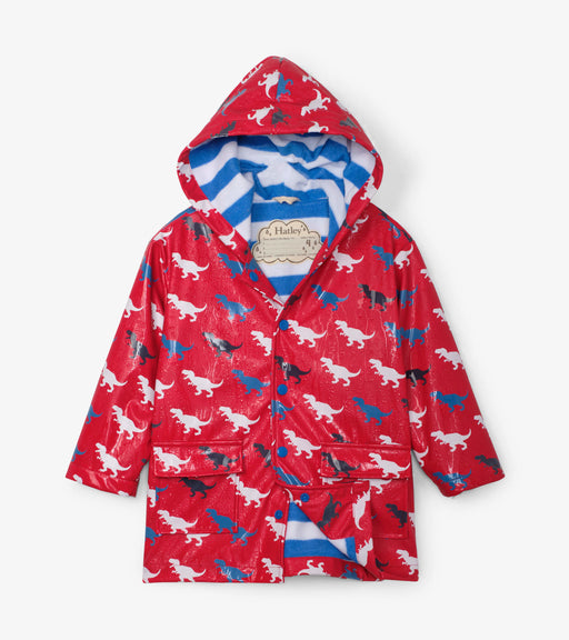 Hatley T-Rex Silhouettes Colour Changing Raincoat