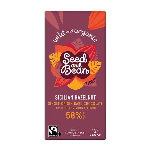 Seed & Bean Sicilian Hazelnut Dark Chocolate Bar