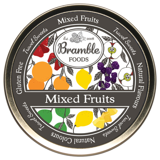 Mixed Fruit Drop Travel Sweets Tin