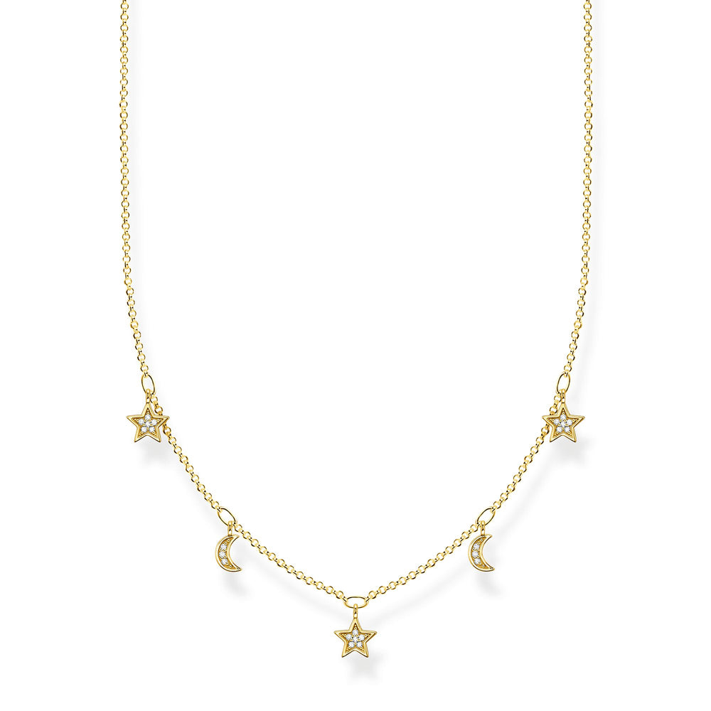 Thomas Sabo Crescent Moon and Stars Necklace