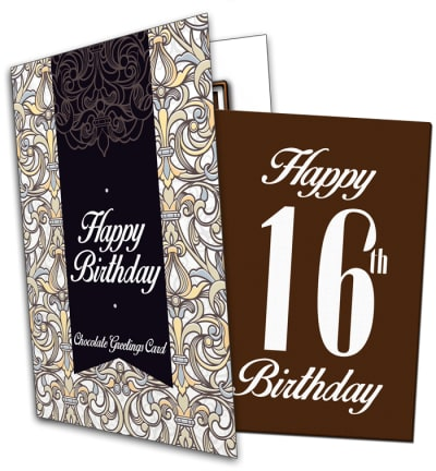 16th Birthday Chocolate Card