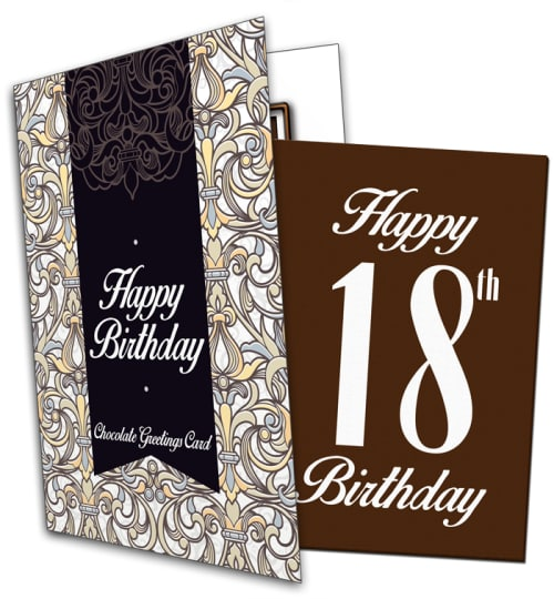 18th Birthday Chocolate Card