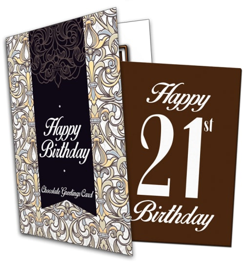 21st Birthday Chocolate Card
