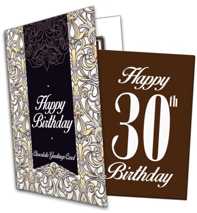 30th Birthday Chocolate Card