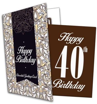 40th Birthday Chocolate Card