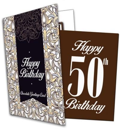 50th Birthday Chocolate Card