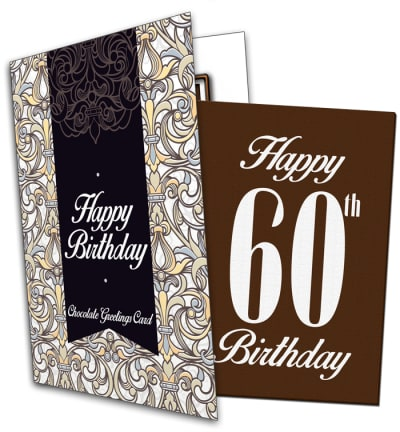 60th Birthday Chocolate Card