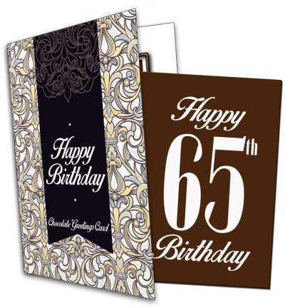 65th Birthday Chocolate Card