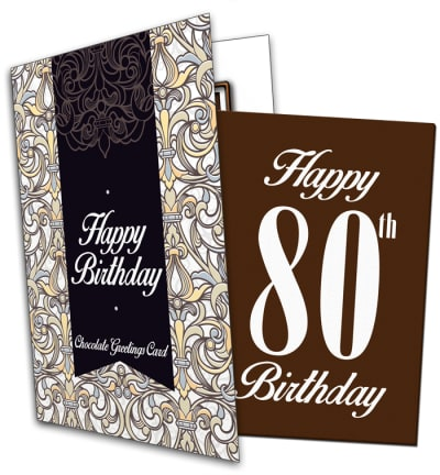 80th Birthday Chocolate Card