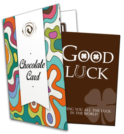 Good Luck Chocolate Card